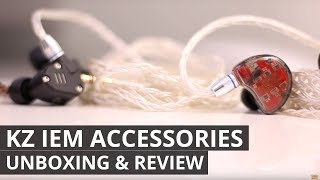 NEW KZ IEM accessories REVIEW - NEW type of Cable and Carry Box