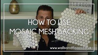 mosaic mesh backing on mosaic tiles