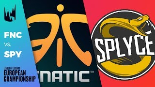 FNC vs SPY, Game 1 - LEC 2019 Regional Finals Round 3 - Fnatic vs Splyce G1