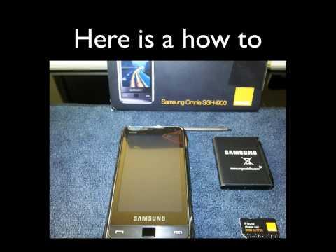 Samsung Omnia i900 Network unlock