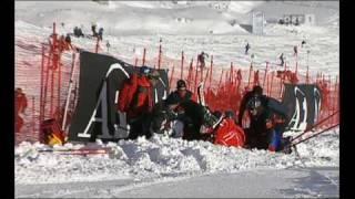 Nicole Hosp Ski Unfall in Sölden (Rettenbachferner) beim Riesentorlauf am 24.10.2009 (ORF)