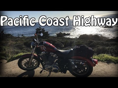 California Pacific Coast Highway BigSur - ride Harley xl883