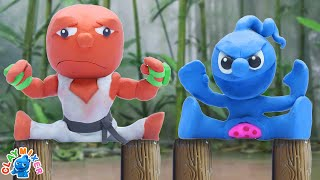 Tiny Defeats Street Fighters - False Action Stop Motion Animation Cartoons