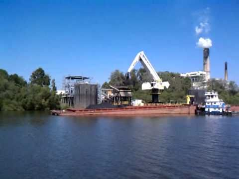 Unloading coal