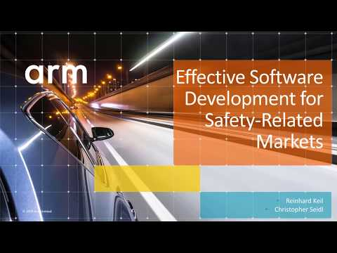 Developing and optimizing complex safety-related applications is challenging, especially when time-to-market is an important factor. Arm has software, tools and platforms dedicated to developing applications for functional safety – they simplify system design and accelerate the verification and validation process. This includes a safety-certified run-time system for Cortex-M processors, including a real-time operating system for application programming. The power of combining commonly used C library functions, with the TÜV-certified Arm Compiler toolchain, and the certified Keil RTX5 real-time operating system deliver a reliable, more secure and highly optimized software platform – enabling engineers to shift their efforts from low-level software layers onto the value-add application code. And get the product to market faster.