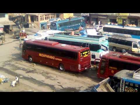 muzaffarabad ajk skyway bus service Pakistan Daewoo bus service Srinagar express new Habib Khan bus