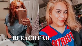 Attempting to go blonde in one day! (BLEACH FAIL)