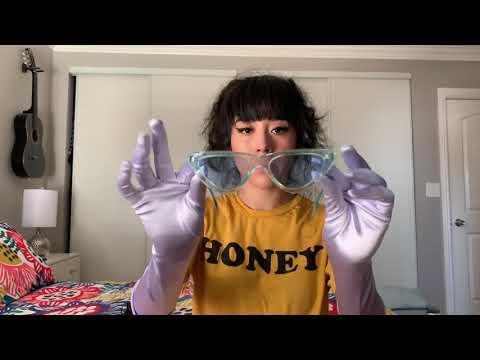 Satin Gloves & Sunglasses ASMR