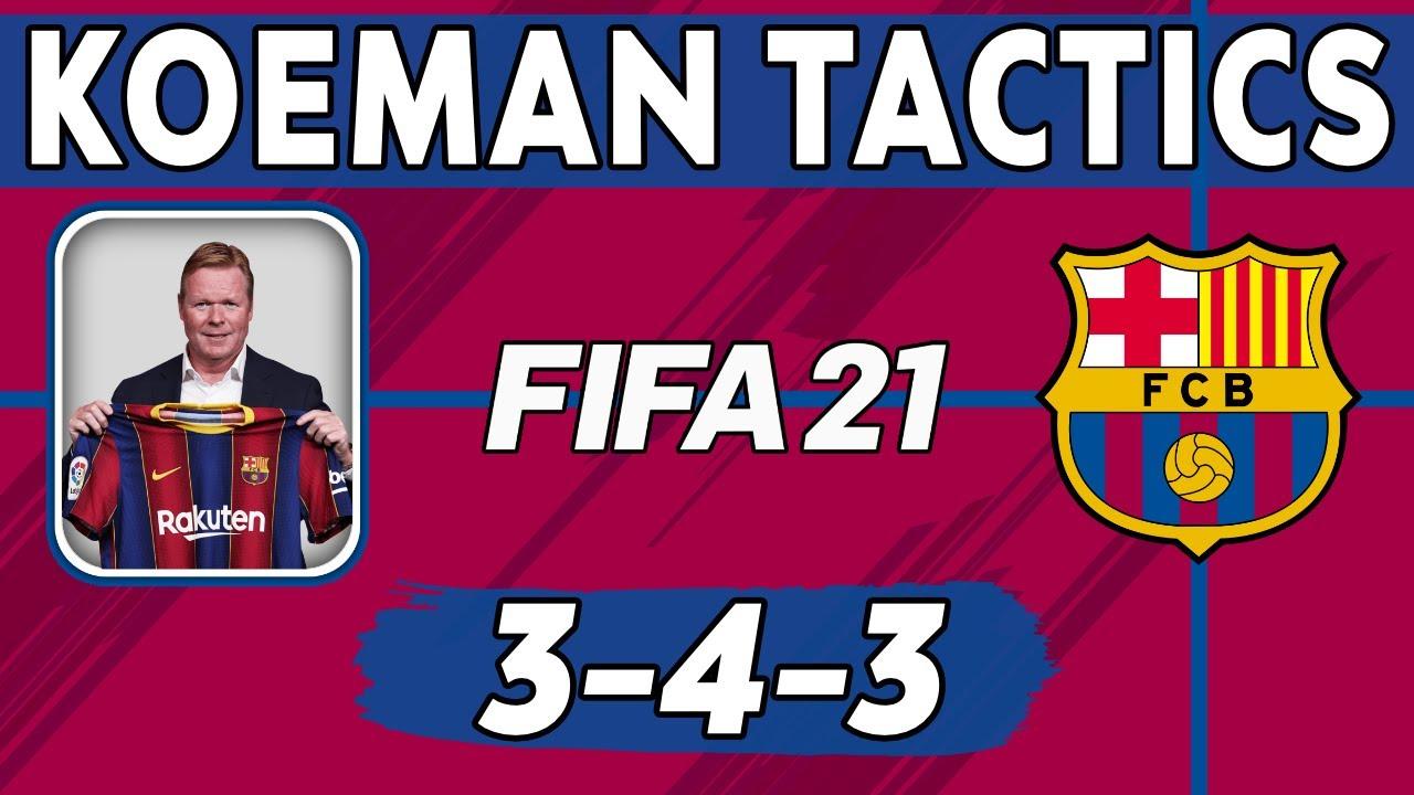 Download Recreate Ronald Koeman's Barcelona Tactics in FIFA 21 | Custom Tactics Explained