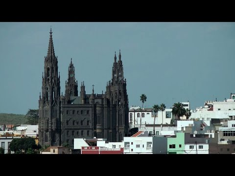 Spain - Gran Canary Island - small town Arucas with San Juan Bautista cathedral