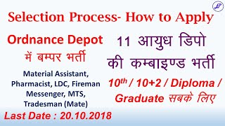 Northern Command Unit Recruitment | Ordnance Depot Combined Recruitment 2018 | Employments Point