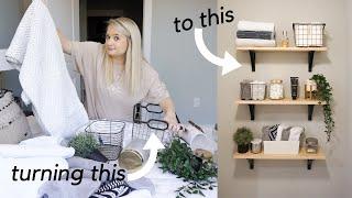 DIY BATHROOM STORAGE! || DIY