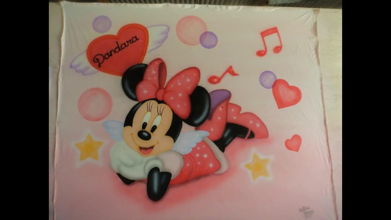 Desenhos Da Minnie Para Pintar Em Tecido: PINTANDO MINNIE EM TECIDO