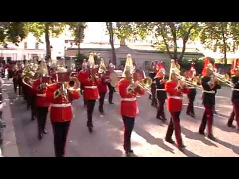 Band of The Household Cavalry - First Queen's Guard Mount at Buckingham Palace