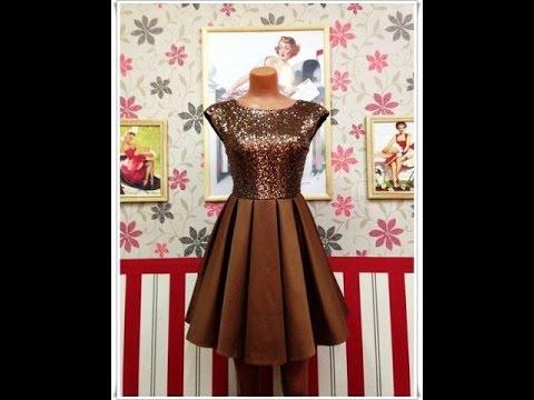 Кройка и шитье платья вечерние