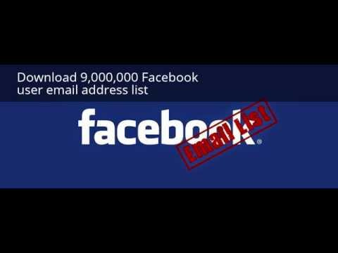 Download 9,000,000 Facebook user email address list - YouTube