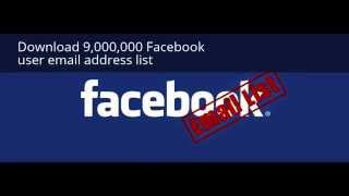 Download 9,000,000 Facebook user email address list