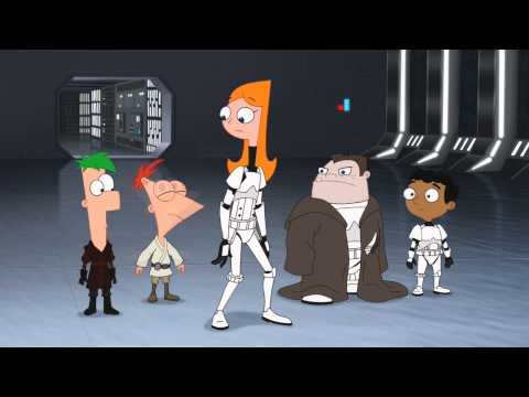Phineas and Ferb Star Wars -  Escaping the Death Star [CLIP]