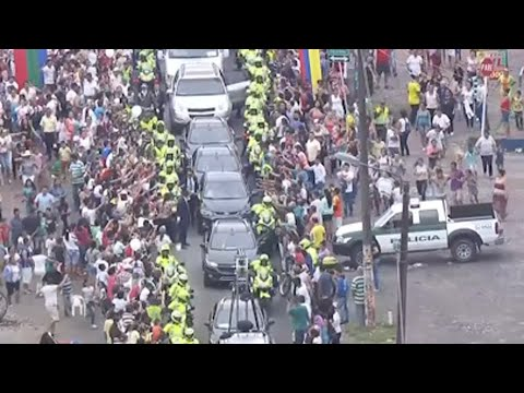 Thousands Greet Pope in Villavicencio, Colombia