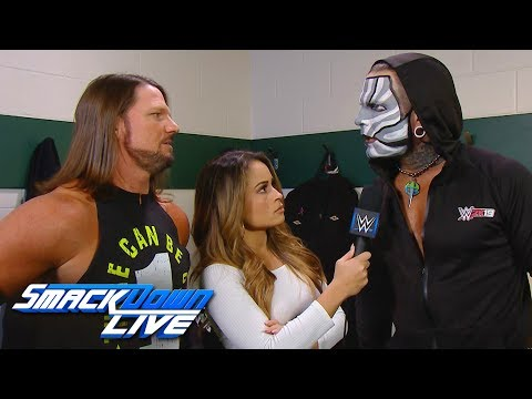 Jeff Hardy and AJ Styles exchange heated words: SmackDown LIVE, Feb. 5, 2019