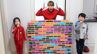종이블럭으로 재밌게 노는 방법?!! 서은이의 종이블럭 쌓기 색깔공부 집만들기 뽀로로 Making House with Paper Block