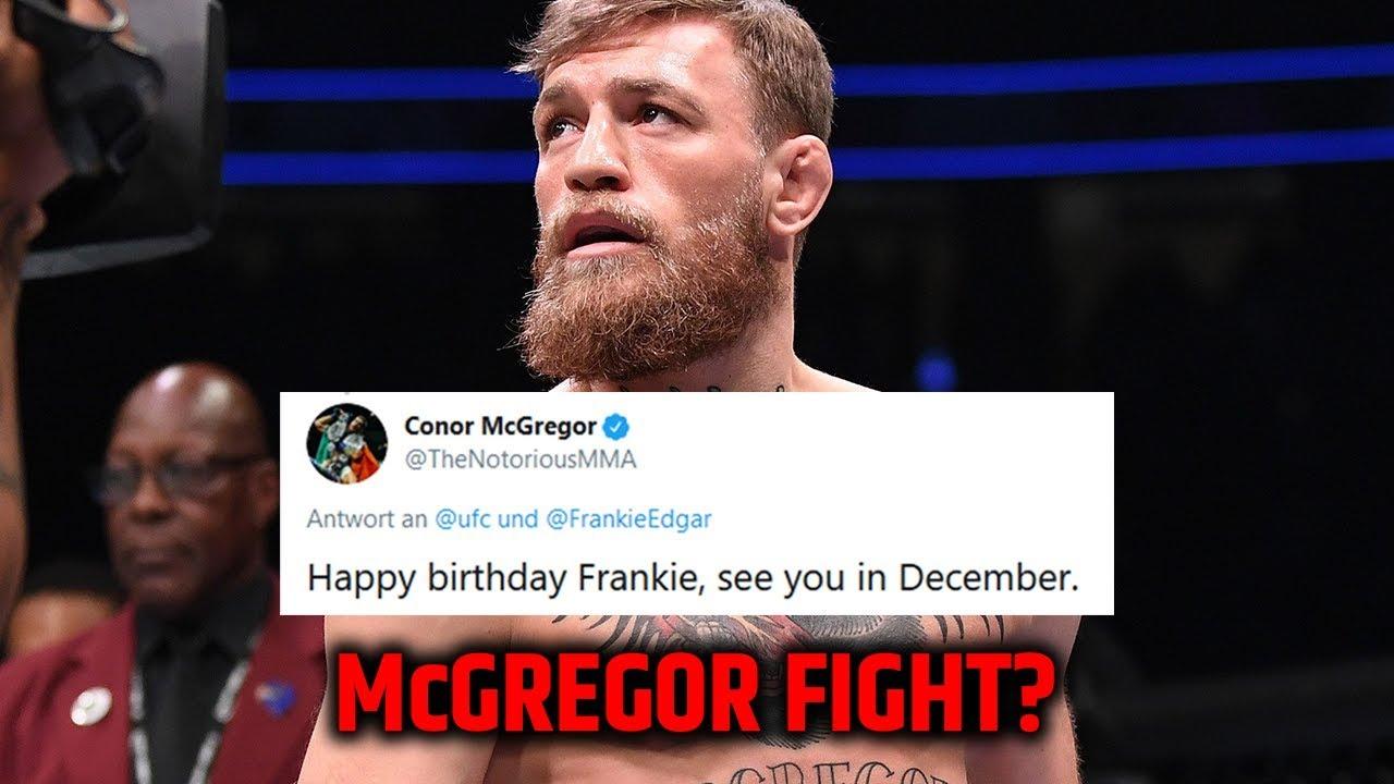 Conor Mcgregor Gibt Hinweis Auf Kampf Im Dezember