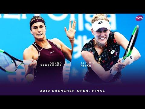 Aryna Sabalenka vs. Alison Riske | 2019 Shenzhen Open Final | WTA Highlights