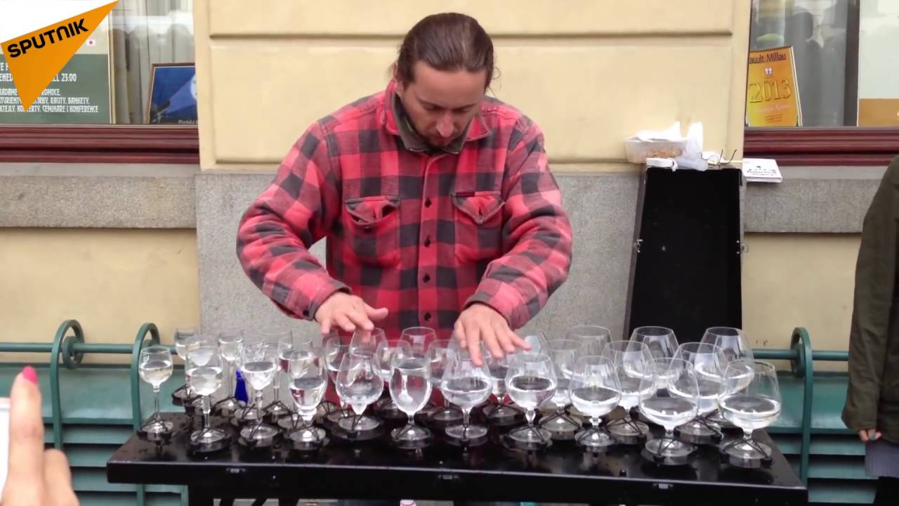 Amazing Street Performer Water Glasses Music Youtube