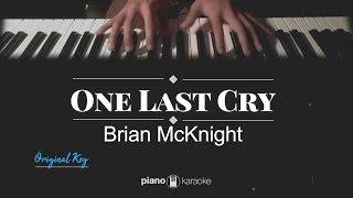 One Last Cry - Brian McKnight (KARAOKE PIANO COVER)