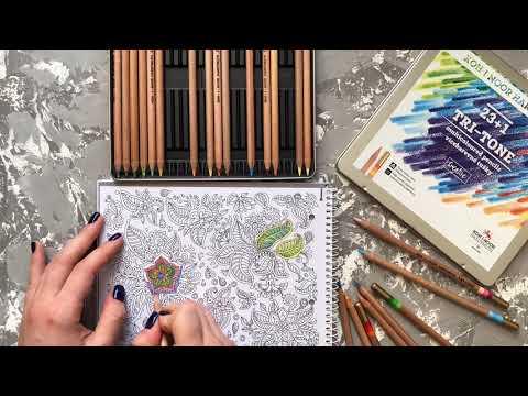 Набор карандашей KOH-I-NOOR TRI-TONE с трехцветным грифелем | Обзор карандашей для рисования