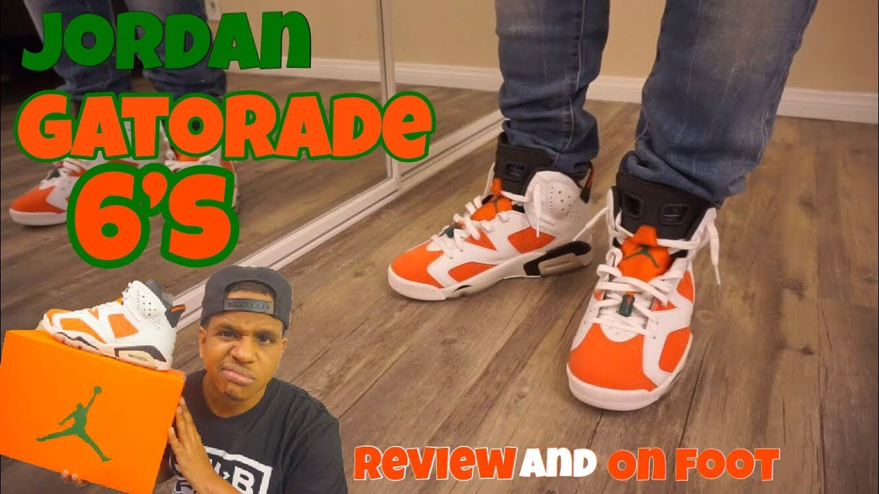 b0c081536cb7b6 Jordan 6 Gatorade Review + On Feet - YouTube