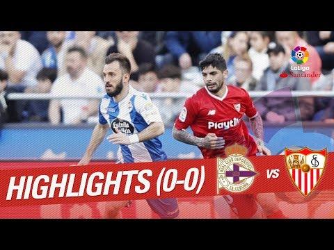 Resumen de RC Deportivo vs Sevilla FC (0-0)