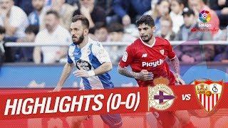 Highlights rc deportivo vs sevilla fc (0-0)