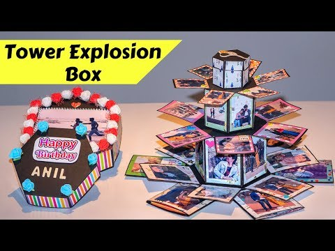 Tower Explosion box | Personalized Adorable handmade Birthday gift | DIY Anniversary Gift Idea