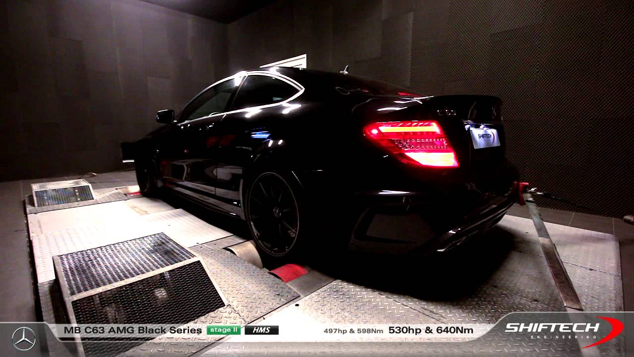reprogrammation moteur mb c63 amg black series 497hp 530hp stage 2 amazing hms exhaust. Black Bedroom Furniture Sets. Home Design Ideas