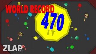 ZLAP.IO   NEW WORLD RECORD 470 !?!?  BIGGEST WRECKING BALL   Gameplay with MasterOv   zlap.io