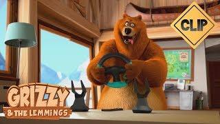 Grizzy découvre la console de jeux vidéo - Grizzy & les Lemmings