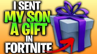 I Sent My Son A Gift In Fortnite! (Duos With My 10-Year-Old Son)
