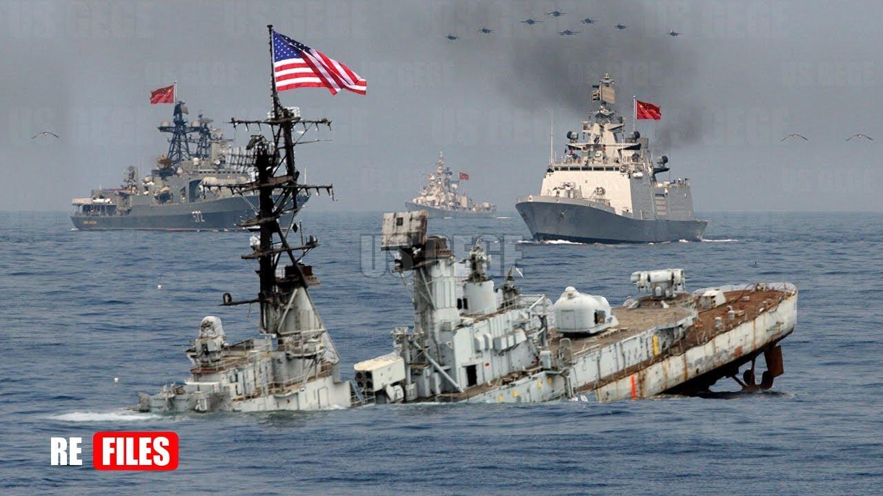 (May 07,2021) China Navy intercepts US Warships Interfering PLA Fires Missile in South China Sea