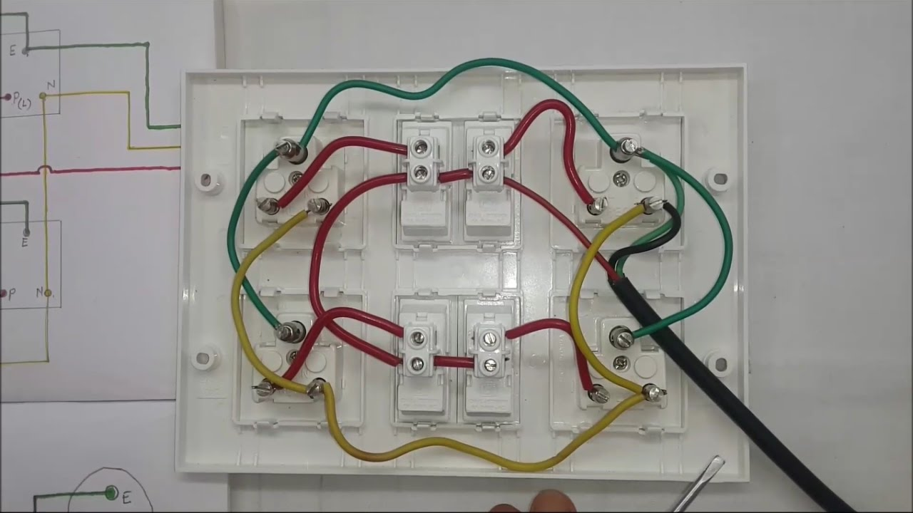 maxresdefault how to make an electric extension board, inner wiring connection extension board wiring diagram at panicattacktreatment.co