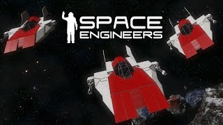 Space Engineers - Rebel Base - Red Squadron - A-Wing Spotlight
