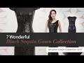 7 Wonderful Black Sequin Gown Collection Amazon Gown Collection 2017