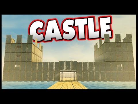 Raft - CASTLE! - Raft Gameplay Unlimited Resources [Let's Play Raft Game Sandbox Survival]