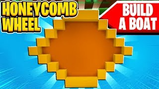 Honeycomb Wheel Boat In Build A Boat For Treasure In Roblox