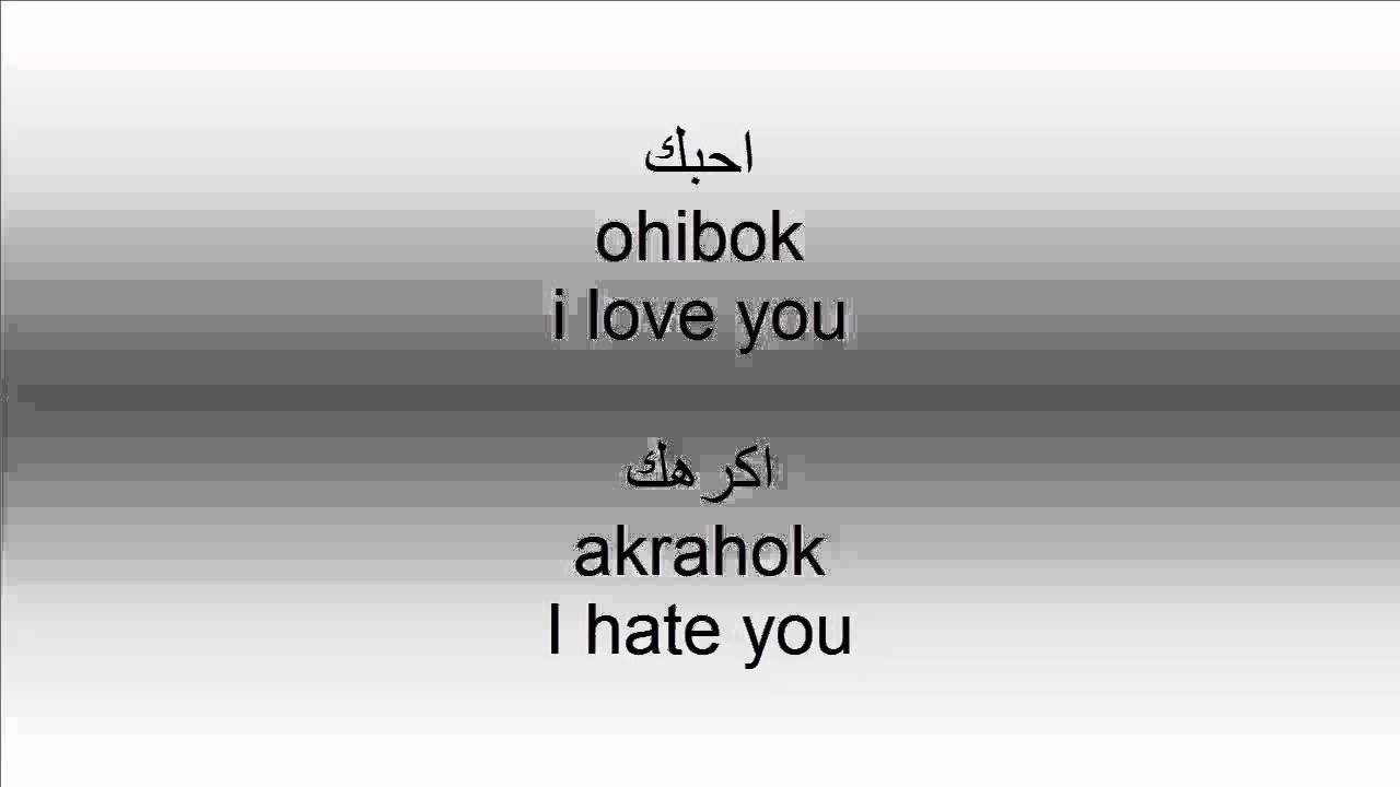 How to Say I love you and I hate you in Arabic - YouTube