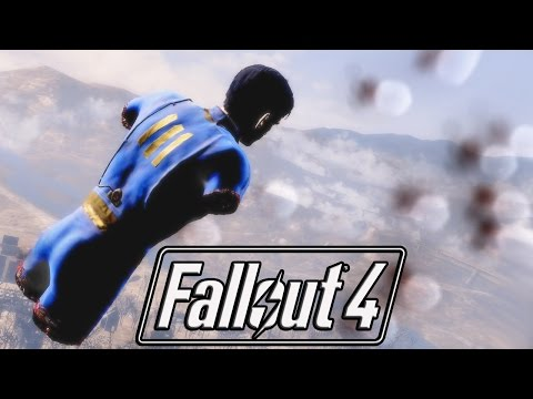 FALLOUT 4 - 500 MINES EXPLODED ON TRINITY TOWER!