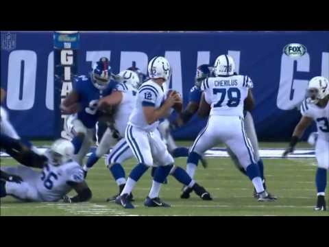 Reggie Wayne Touchdown Catch Follows Aaron Ross