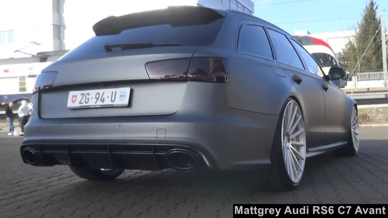 tuning audi rs6 c7 avant in mattgrau youtube. Black Bedroom Furniture Sets. Home Design Ideas