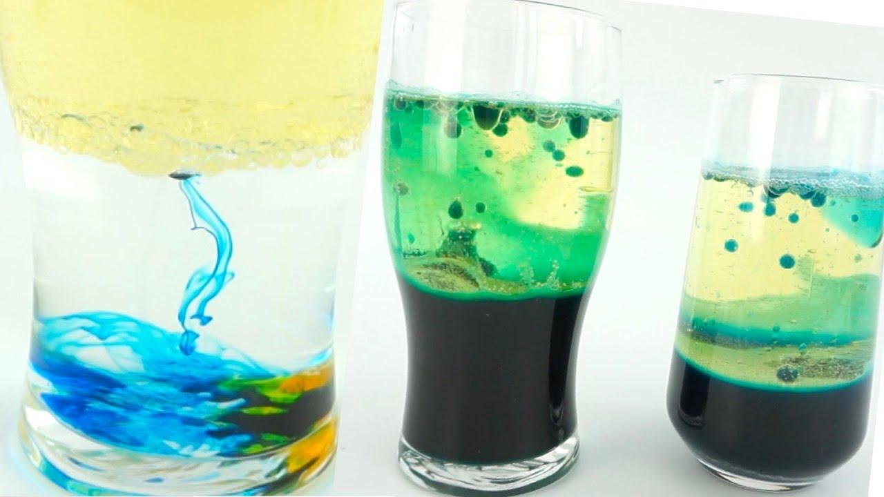 Эксперименты с маслом и краской. Видео для детей