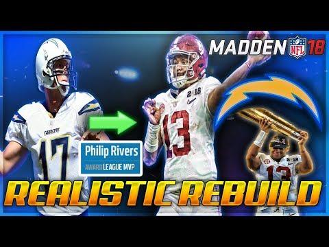 Rebuilding The LA Chargers   Tua Tagovailoa Dynasty   Madden 18 Franchise